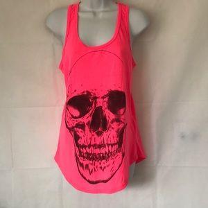 Pink & Black Skull Tank Top Black Matter Large